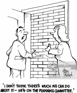Claire and Daragh couldn't see what their neighbour's problem was: exposed brick is all the rage!